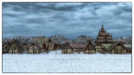 Winter Village by Vaskania