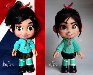 repainted OOAK talking vanellope doll by ddulb