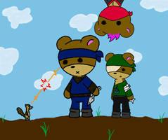 Ninja Teddys by musical-onigiri