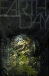Earth Day Poster_grungestyle by East525