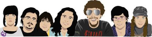 Artists' portraits by CordobitaDeviants