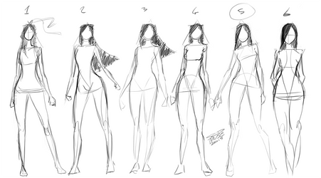 [7] Quick Standing Sketches by SCDMuse