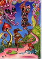 WEIRD SHROOM TRIP by Acid-Flo