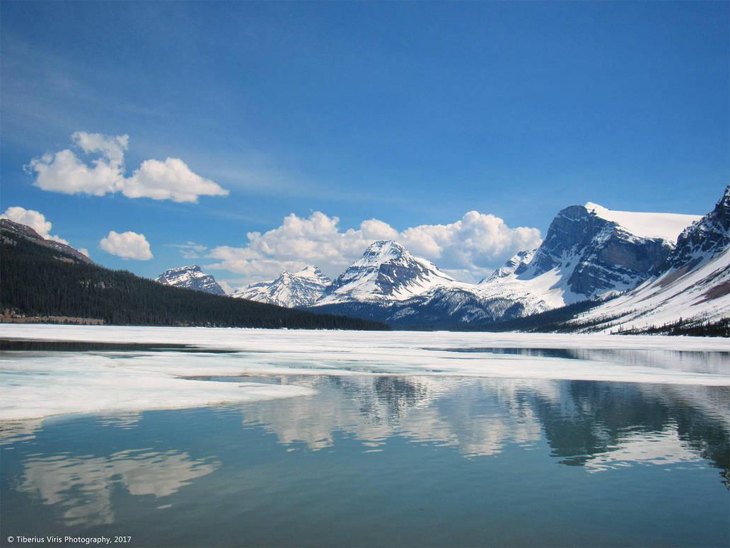 Bow Lake - Frozen by Suirebit