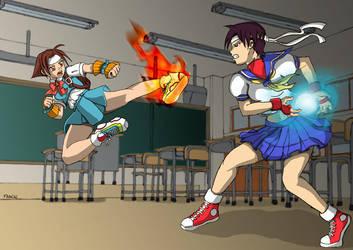Hinata VS Sakura by Suzumebachi83