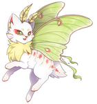 {P} Luna Moth-cat - Approved! by Viidoll