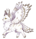 {P} Snowy Owl Mothcat - Approved! by Viidoll