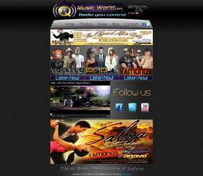'Q Music World' Website Design by Timmie56