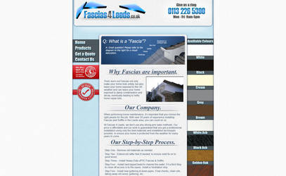 'Fascias4Leeds' Website Design by Timmie56
