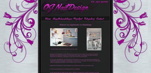 'OJ Nail Design' Website Design by Timmie56