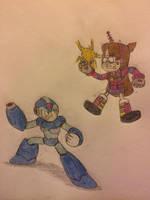 Mega Man X vs. Rainbow Mabel by JJSponge120