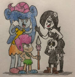 Meeting Gina and Mort (Art Trade) by JJSponge120