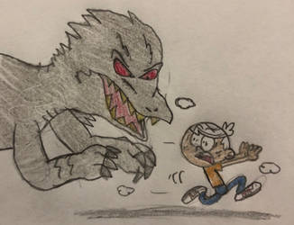 Lincoln Escaping Indominus Rex by JJSponge120