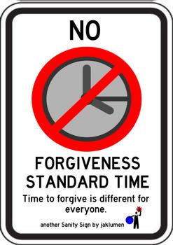 No Forgiveness Standard Time by jaklumen