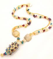 Ellyoos Gem Encrusted Necklace by Entophile