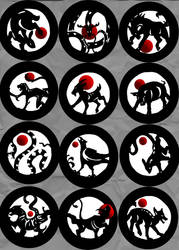 Chinese Circles Final Set by Entophile