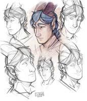 Renard-Bleu - Night sketch by Sorente