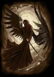 Black Angel accompanying Print by AndrewDobell