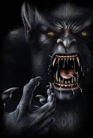 Werewolf Face by AndrewDobell
