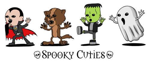 Spooky Cuties by AndrewDobell