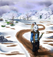 The Wary Traveller by C-Puff