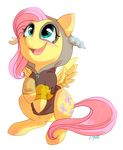 Discorded Fluttershy by C-Puff