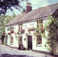 Colour Drawing of Country Pub by balloonfactory