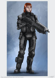 ODST Sarah (Commission) by The-Chronothaur