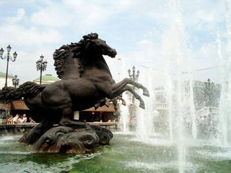 fountain in russia by cmhooley