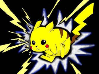 Pikachu by Kitsune-wolf