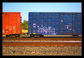 Red train, blue train by pdpardue