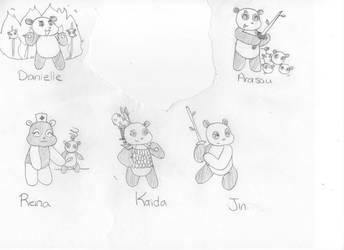 Pandas 1 by Kitsuiko