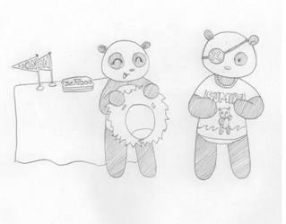 Pandas 3 by Kitsuiko