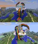 MineCraft RainBow Dash House by StarDragon102