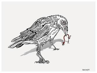 Crow button-eye by WeirdSwirl