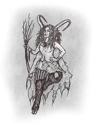 Lady Krampus by WeirdSwirl