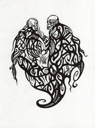 Lovely skulls by WeirdSwirl