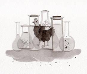 Laboratory chicken by WeirdSwirl