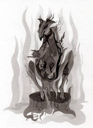Swollen werewolf by WeirdSwirl