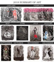 2018 SUMMARY ART by WeirdSwirl