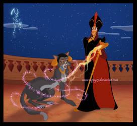 Jafar and Jasmine by Nippy13