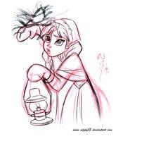Disney's Frozen - Anna Sketch 04 by Nippy13