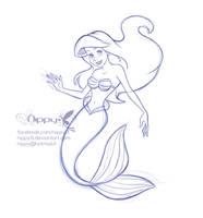 Ariel  doodle by Nippy13