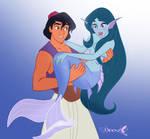 Aladdin and Jasmine by Nippy13