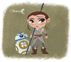 Star Wars - Rey chibi by Nippy13