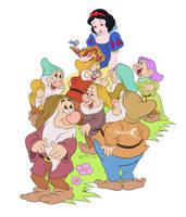Snow White and Dwarfs by Nippy13