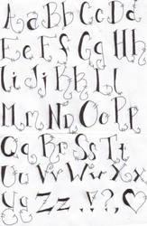 My Alphabet by darkartist13