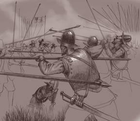 Clashing Pikemen by Xamlllew
