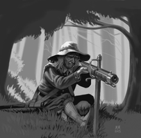 Hunter's Wheellock by Xamlllew