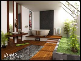 minimalist bathroom by koyamenz